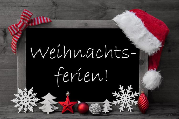 Foto Tafel Weihnachtsferien